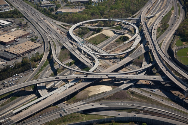 The Springfield Interchange in Springfield, VA. I drive on this almost every day.
